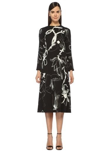 Karışık Desenli Midi Elbise-Beymen Collection